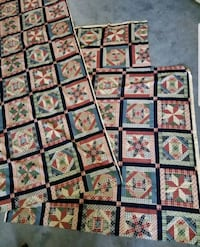 """Quilted print fabric.2 pcs 44""""x44"""".1 BIG pce. Lakewood, 90713"""