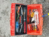 Brand new tool box full of used tools