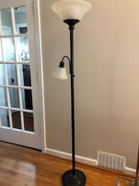 black and white torchiere lamp Arlington, 22201