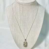 Sterling Silver & Dalmatian Jasper Pendant with Sterling Rope Chain Chantilly, 20151