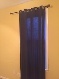 Navy blue curtain panel Washington