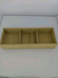 3 section bamboo tray decor Gaithersburg, 20877