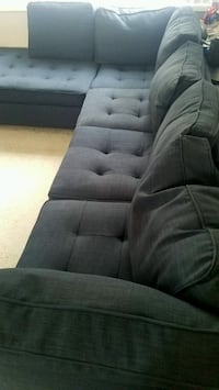 Navy Fabric 2-Piece Sectional w/Accent Pillows 2273 mi