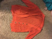 Buckle orange cardigan (size M)  152 mi