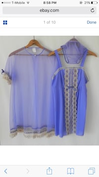 purple and white scoop-neck dress South El Monte, 91733