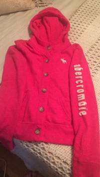 Abercrombie button-up jacket/pink