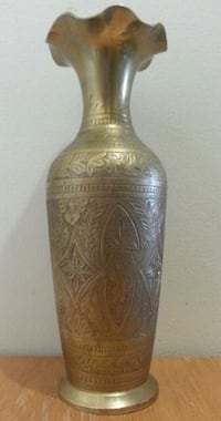 Tall Etched Brass Vase  Mississauga, L5N 2X2