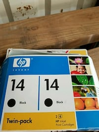 HP print cartridge box Amarillo