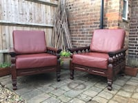 brown leather padded sofa set Watford, WD25