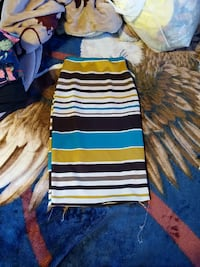 black and multicolored stripe long skirt Travis County, 78617