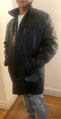 Leather Coat - Mid-Length, Mint Condition. New York