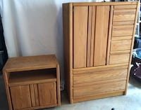 Brown wooden cabinet and drawer Franklin