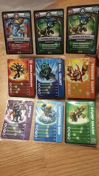 Assorted Skylanders cards 553 km