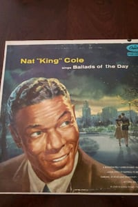 """'Ballads Of The Day'- Nat """"King"""" Cole Vinyl Record Album.  Kingsville, 21087"""