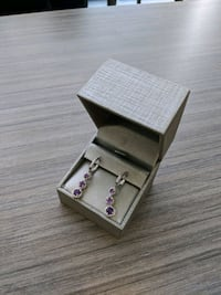 Unused Amethyst Earrings Great Valentine's Day gift! Mississauga, L5B 4E5