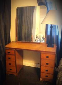 Mid-century vanity, mirror and night stand.  Los Angeles, 90042