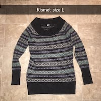 black and gray striped sweater Grande Prairie, T8V