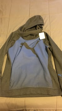 Puma hoodie women's size l blue and grey