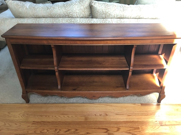 Exquisite Multi Purpose Ethan Allen Sofa Table W Bookshelves