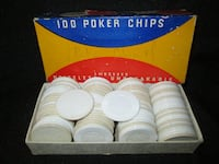 Vintage 'VAN DYKE' Poker Chips with BOX   EDMONTON