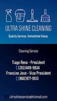 Ultra Shine Cleaning. Get your quote for free!  West Hartford, 06119