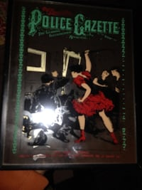Antique police gazette glass poster  New York, 11422