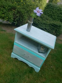 Hand painted wood side table