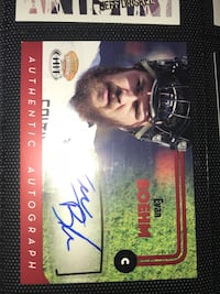 Football card with signature  22 km