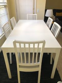 IKEA EKEDALEN table and 6 chairs Falls Church, 22043