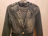 jeans jacket with pearl