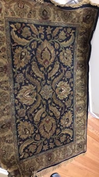 brown and black floral area rug TORONTO