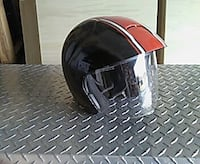 black and red motorcycle helmet