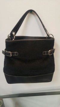 black and gray leather shoulder bag Brampton, L6W 2A7