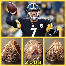 Pittsburgh Steelers Ben Roethlisberger 2008 Championship Ring Size 11