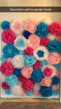 Gender Reveal Decorations (paper flowers) Calgary, T3R