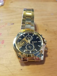 MENS Stainless Steel gold w