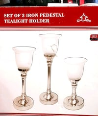 NEW IN BOX Candle iron and glass holders Maple Ridge, V2X 5Z2