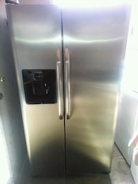 Frigidaire stainless steel side by side fridge  2217 mi
