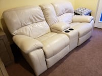 Leather reclining sofa  Germantown