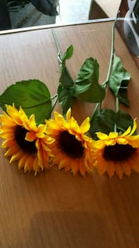Silk flowers sunflower and long red flowers Winchester, 22601