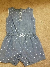 blue and white polka-dotted crew-neck 18 months