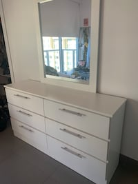 FULL bed frame - mattress - white dresser. All together or separate. Miami, 33131