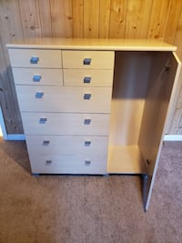 Cream Dresser with Silver Handles Oxon Hill