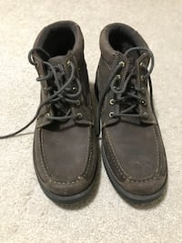 Men's brown leather shoes. New, never worn. Clarks Columbia, 21044