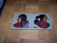 2 - Cleo Teissedre Indian Head Figure Ceramic Tile Vaughan