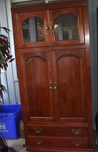 brown wooden 4-door cabinet Ancaster, L9G 3X5