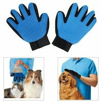 One pair pet grooming gloves left and right hand