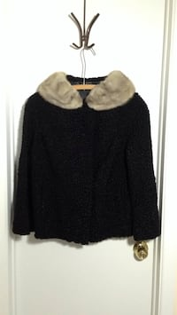 Vintage fox fur collar boiled wool jacket/coat Mississauga, L5J 3J5