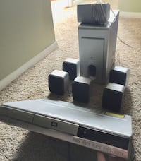 White and black home theater system