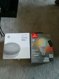 BRAND NEW Google mini and smart light bulb